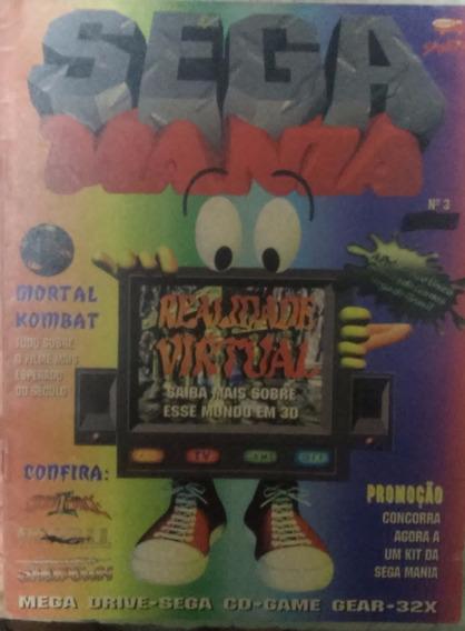 Revista De Videogames Sega Mania Nº 3 Realidade Virtual E Mk
