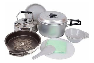 Marmita Doite 2 Personas Set Cocina Camping El Combatiente