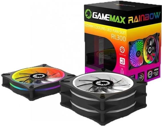 Kit Gamemax Rl300 Com 3 Cooler Rgb 21 Leds Controle Remoto