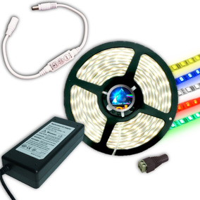 Kit Completo Tira Led 5050 Con Fuente, Dimmer Y Conector @tl
