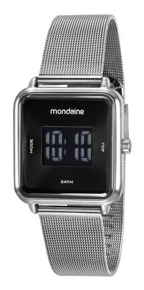 Relógio Mondaine Feminino Digital Prata Original Nota Fiscal