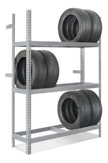 Rack O Estante Con 3 Repisas Para 18 Llantas 152x45x213 Cm