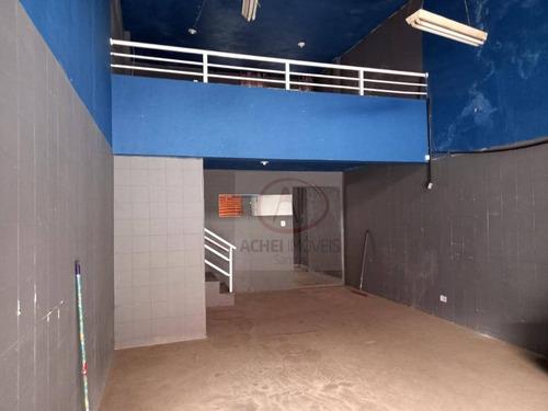 Galpão Com Mezanino E 1 Sala  À Venda, 122 M² Por R$ 375.000 - Centro - Santos/sp - Ga0024