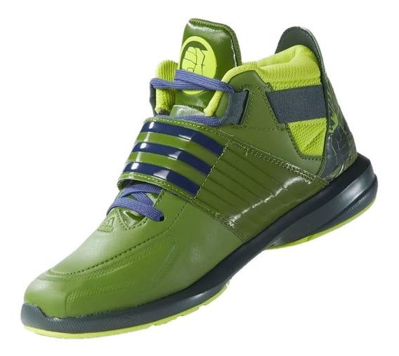 Tenis adidas Niño Verde Marvel Avengers Hulk Af3990