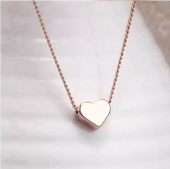 Collar Dije Moda Vintage Pequeño Corazón.