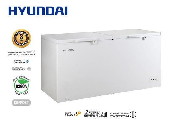 Congelador Refrigerador Hyundai 402 Ws Litros / Hycf418cw2d