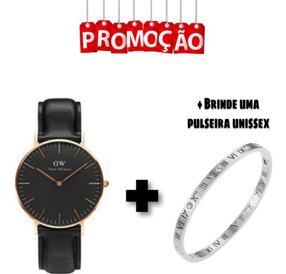 Kit Relógio + Pulseira Danielwellington Unissex Promoção