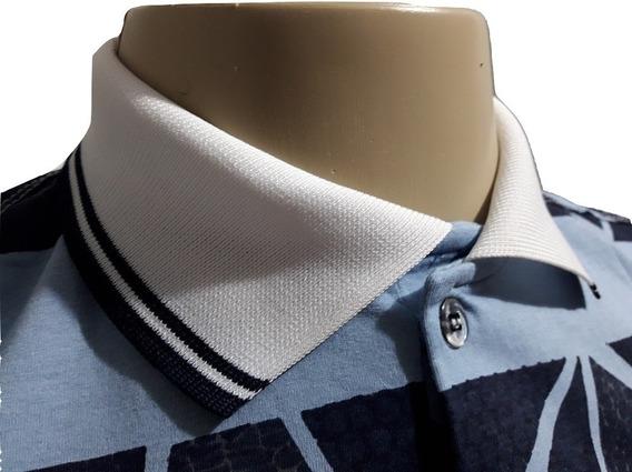Kit 10 Camisas Pólo Camiseta Masculina Listradas Estampada