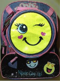 Emoji Mochila Con Lonchera 40x30 Cm.