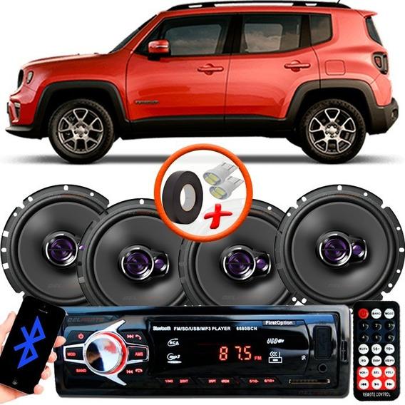 Rádio Mp3 Bluetooth + Falante Pioneer 6x6 1760 Renegade Lon