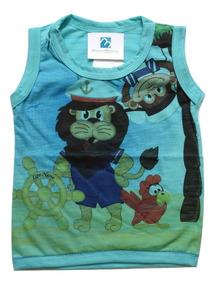 Camiseta Regata Menino Enxoval Bebe Infantil Verão 2017