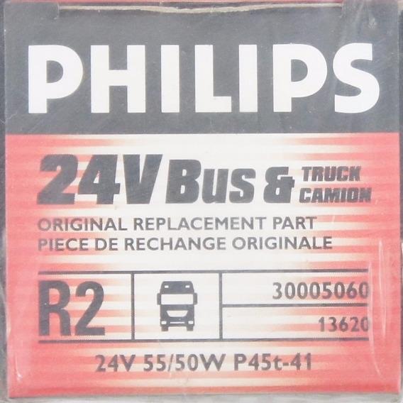 Kit 12 Lâmpada Assimetrica 13620 24v 50-55w Farolphilips