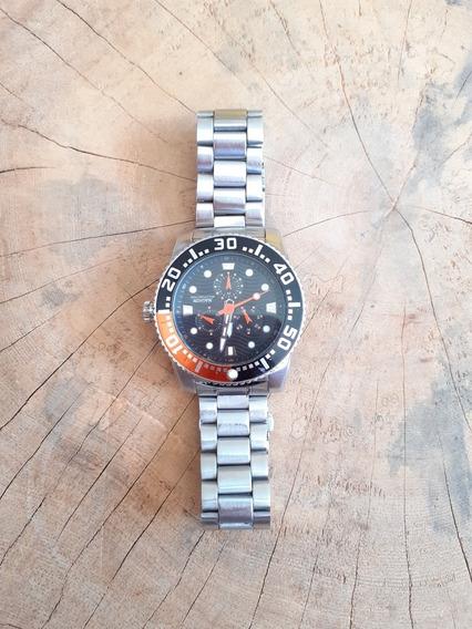 Relógio Magnum Multifunction Aço Inox