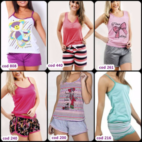 2c5f3f4d1 Kit Com 4 Modelos Diferentes De Pijamas