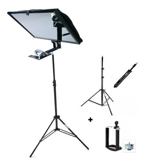 Teleprompter Com Tripé P/ Monitor Até 19 Polegadas Ou iPad