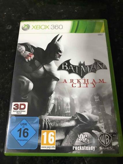 Jogo Xbox 360 Batman Arkham City Original Mídia Física