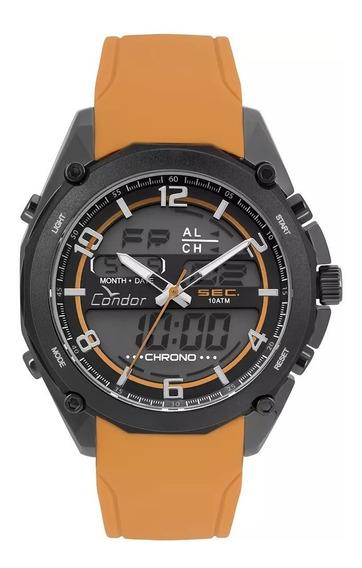 Relógio Condor Masculino Anadigi Laranja Coy121e6ae/2p