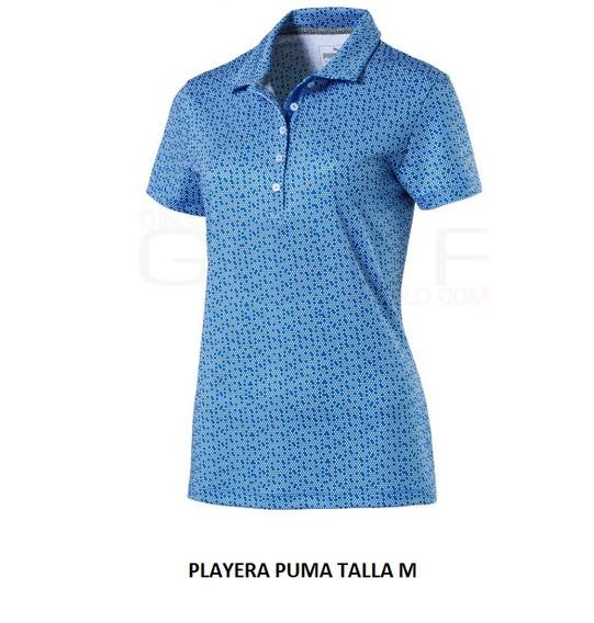 Playera Puma Tipo Polo De Dama Talla M Azul Cielo