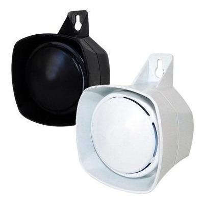 10 Sirene Bitonal Alarme Cerca Elétrica 12v Branca Preto