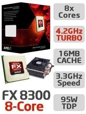 Pc Gamer Fx 8300, 16gb Ddr3, R9 270x, Ssd240, Watercoller