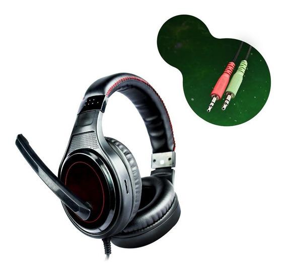 Headset Gamer Dl Games Sound Gate D1, P2, Preto E Vermelho