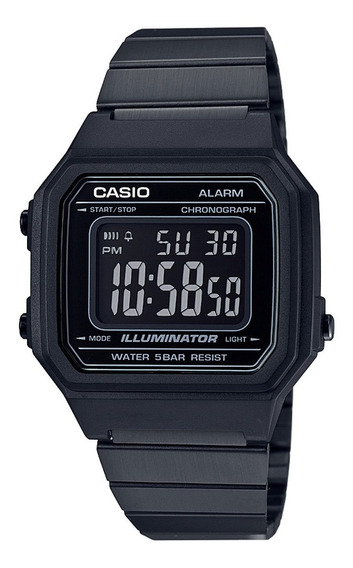 Reloj Casio Retro Vintage Negro Nuevo Original Unisex B650wb