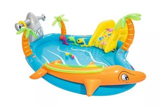 Pileta Inflable Infantil Tobogan Bestway Babymovil 53067