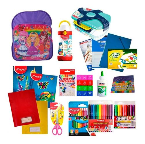 Preescolar Set Cuadernos Marcadores Vianda Y Botella Maped