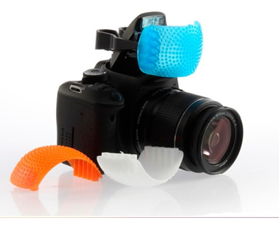 Kit De Difusores Pop Up De Zapata Para Flash Integrados Dslr