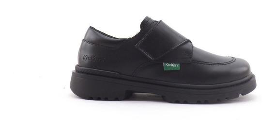 Zapatos Colegial Kickers Kool Nena Nene Abrojo Cuero 27-33