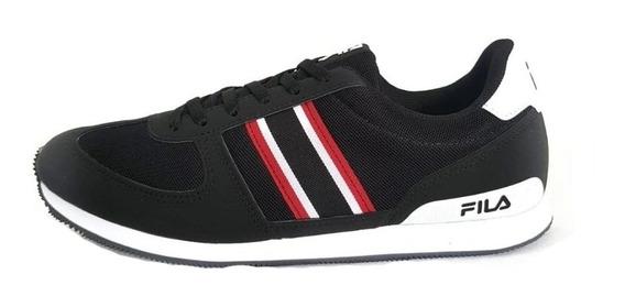 Sapato Fila Retro Sport 2.0 Masculino-preto/vermelho