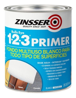 Pintura 123 Primer Zinsser Fondo Imprimante Multiuso Para Azulejos 0,946 Litro Rust Oleum