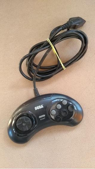 Controle 6 Botões Mega Drive Tec-toy Perfeito Estado
