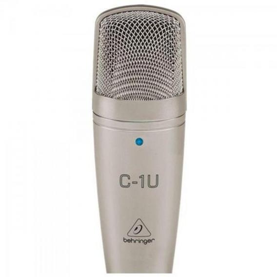 Microfone Condensador C1u Usb Prata Behringer