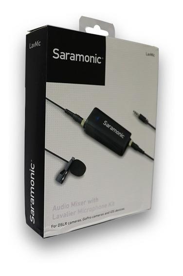 Microfone Lapela Smartphones Gopro Lavmic Saramonic Lacrado