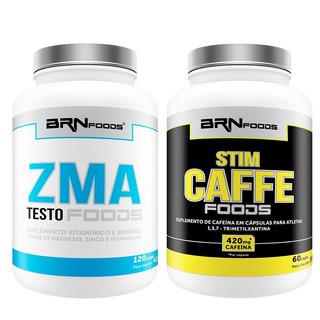 Zma Testo Foods Com 120 Cápsulas+ Stim Caffe 60 Caps