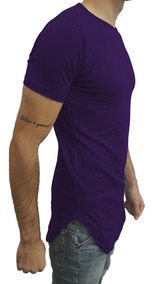 Camisas Masculinas Swag Camisetas Long Line Manga Curta