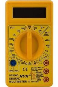 Multímetro Digital Dt830d Hyx - Display Lcd Nota Fiscal
