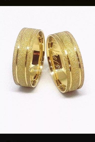 Par De Alianças Ouro 18k 4mm 4gr (casamento ,noivados)