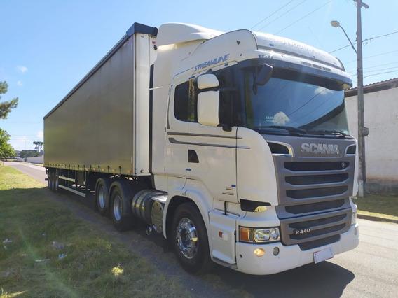 Scania R440 Streamline 2013 + Carreta Sider Randon 28 Plts