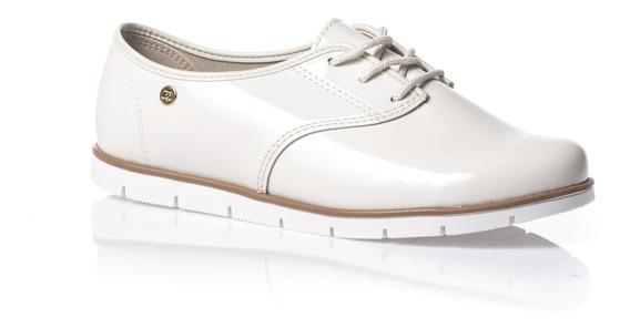 Moleca Sapato 5613304 Oxford Verniz Premium Bco Off