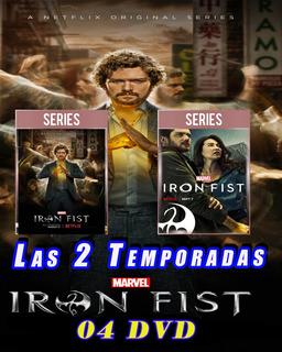 Iron Fist La Serie La 1ra Y 2da Tempo Español Lat. 4 Dvd