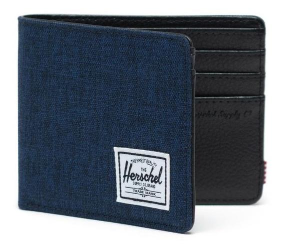 Billetera Hombre Herschel Hank Rfid Medieval Azul