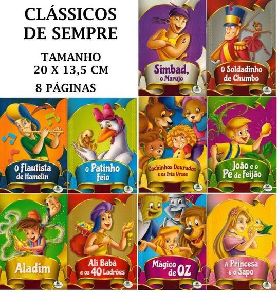 Livro Infantil Clássicos De Sempre C/10 Unidades