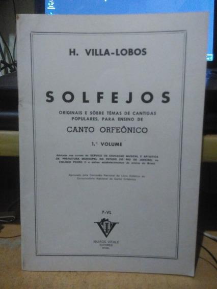 Solfejos Volume 1 Villa-lobos Irmão Vitale 1976 Bom Estado