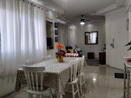 Imagem 1 de 24 de Apartamento Com 3 Dormitórios À Venda, 119 M² Por R$ 515.000,00 - Embaré - Santos/sp - Ap0862