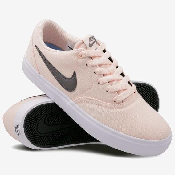 Zapatillas Nike Sb Check Solarsoft Women 602 Washed Coral