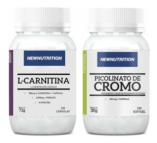 Kit Picolinato De Cromo + L-carnitina - Newnutrition