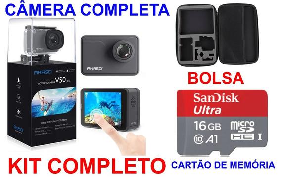 Câmera Akaso V50 Pro Nativo 4k 30fps 20mp Wi-fi Ação