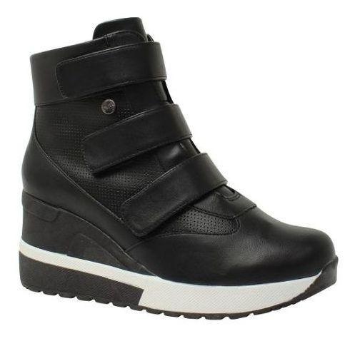 Bota Sneaker Quiz Plataforma Velcro 6737928 Feminina Preto